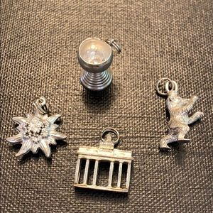 Lot of 4 Vintage Silver Charms from Germany 🌸🌸